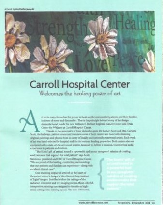Carroll hospital magazine